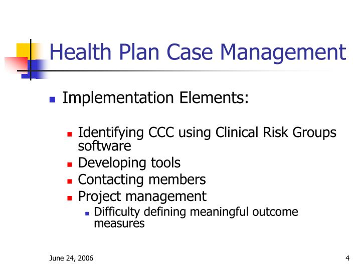 Health Plan Case Management