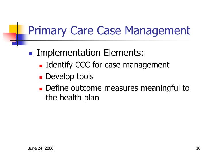 Primary Care Case Management