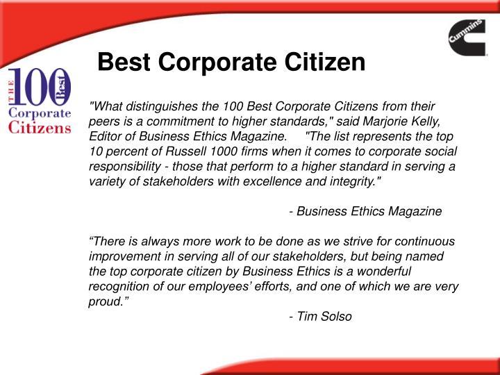 Best Corporate Citizen