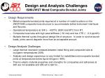 design and analysis challenges isim jwst metal composite bonded joints