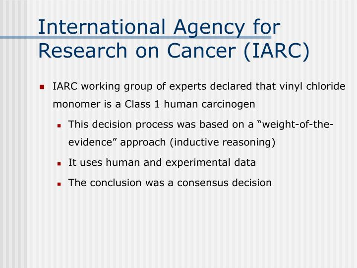 International Agency for Research on Cancer (