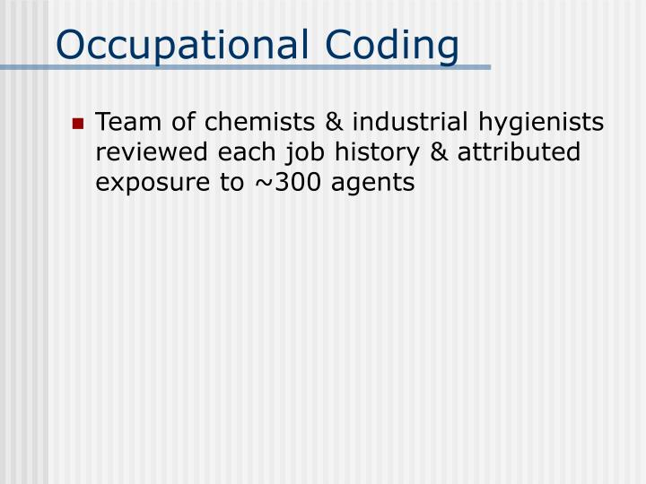 Occupational Coding