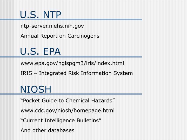 U.S. NTP
