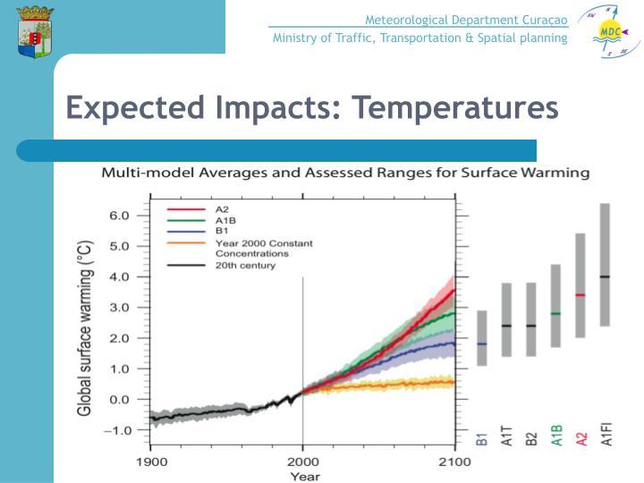 Expected Impacts: Temperatures