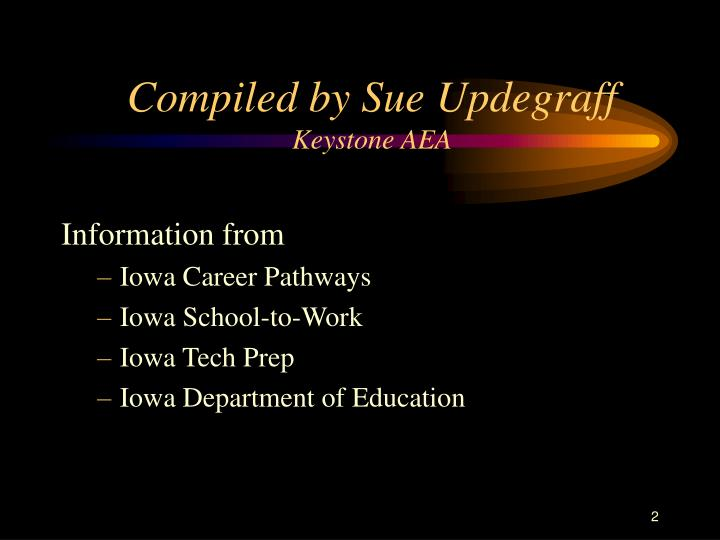 Compiled by Sue Updegraff