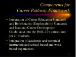 components for career pathway framework