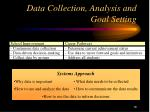 data collection analysis and goal setting