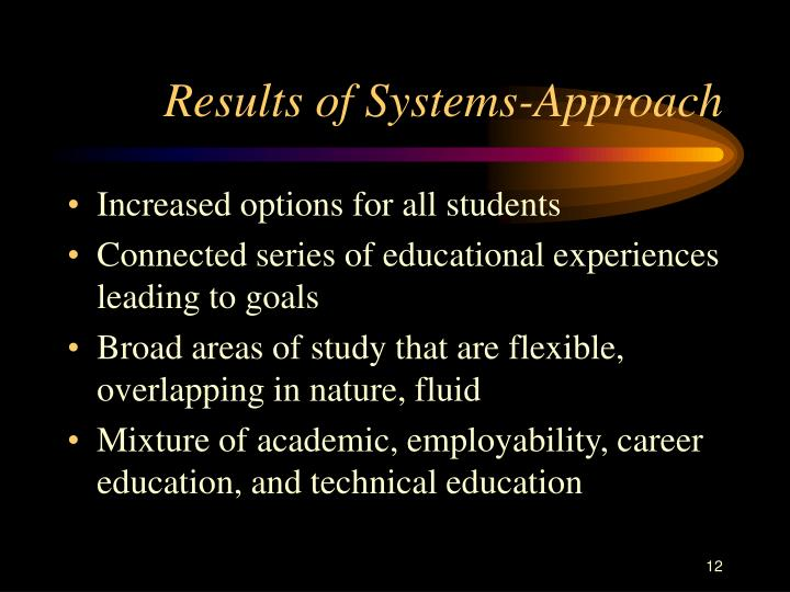 Results of Systems-Approach