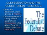 confederation and the constitution section 3