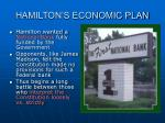 hamilton s economic plan