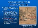 tension mounts in massachusetts