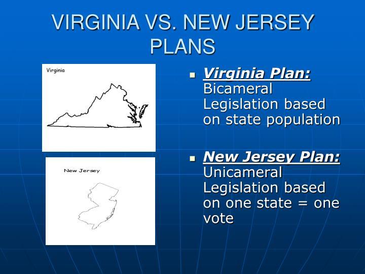 VIRGINIA VS. NEW JERSEY PLANS