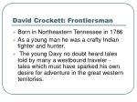 david crockett frontiersman