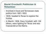 david crockett politician volunteer
