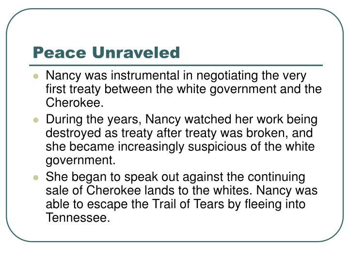 Peace Unraveled