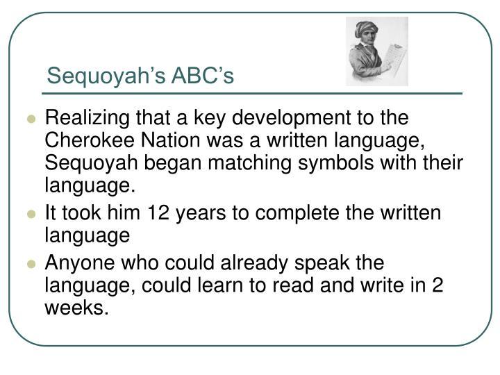 Sequoyah's ABC's