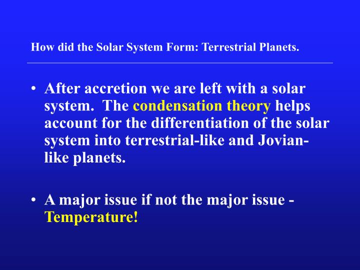 condensation in the solar system - photo #36