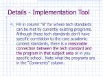 details implementation tool3