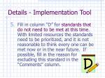 details implementation tool4