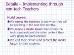 details implementing through non tech teachers1