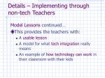 details implementing through non tech teachers2