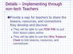 details implementing through non tech teachers5