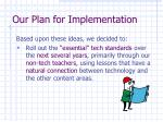 our plan for implementation