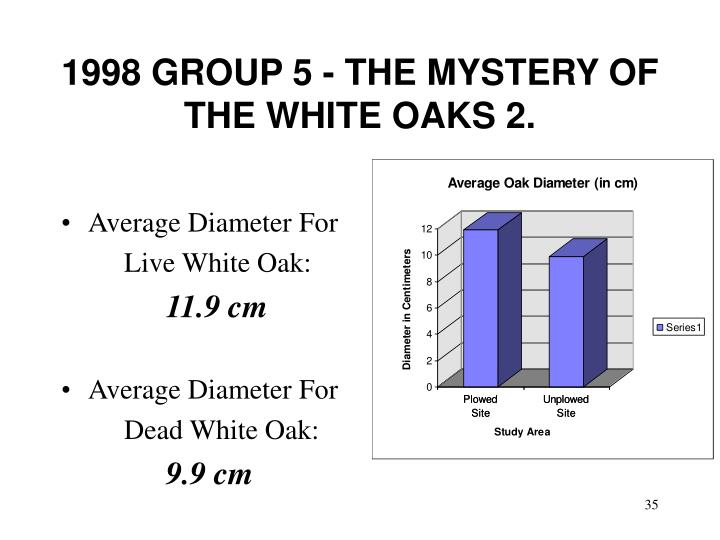 1998 GROUP 5 - THE MYSTERY OF THE WHITE OAKS 2.