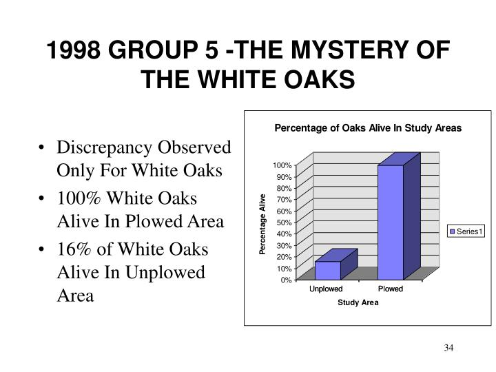 1998 GROUP 5 -THE MYSTERY OF THE WHITE OAKS