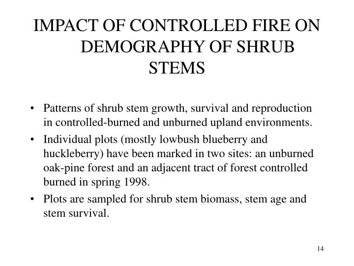 IMPACT OF CONTROLLED FIRE ON