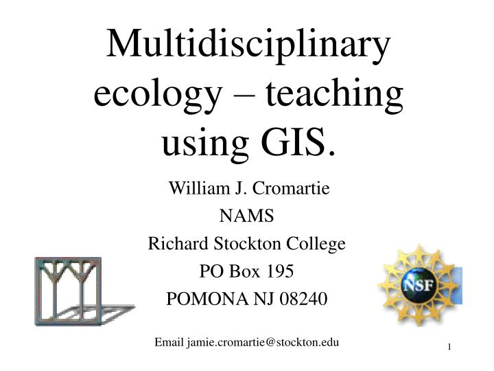 multidisciplinary ecology teaching using gis