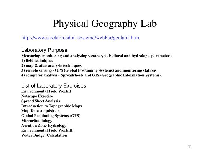 Physical Geography Lab
