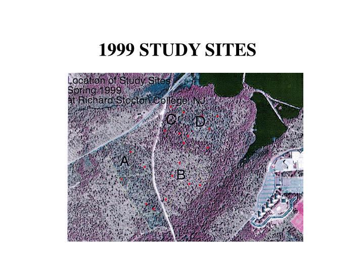 1999 STUDY SITES
