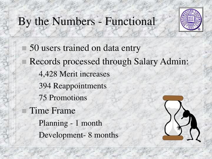 By the Numbers - Functional