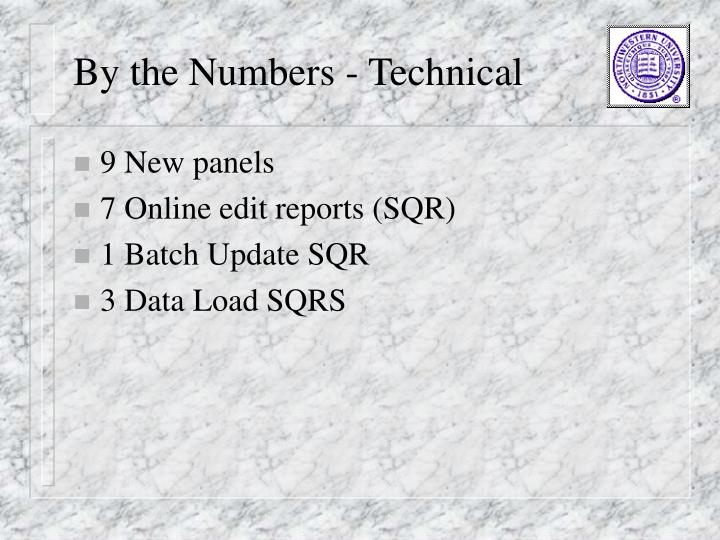 By the Numbers - Technical