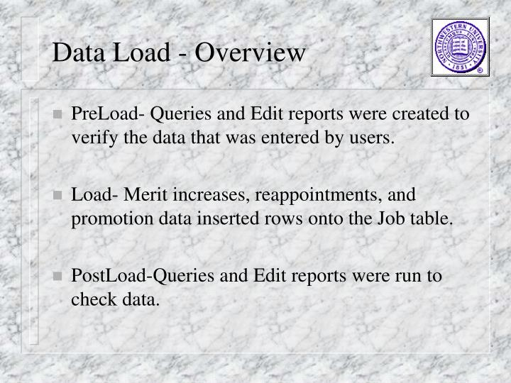 Data Load - Overview