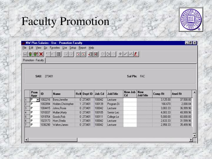 Faculty Promotion