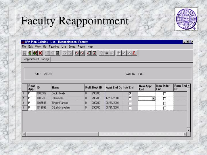 Faculty Reappointment