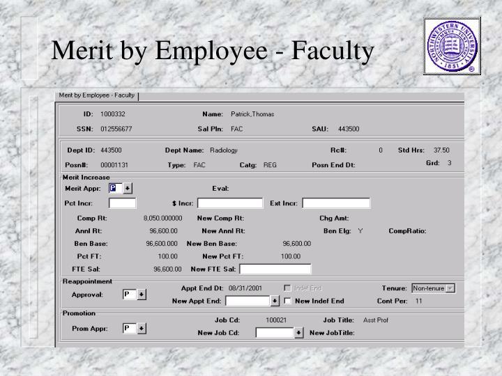 Merit by Employee - Faculty
