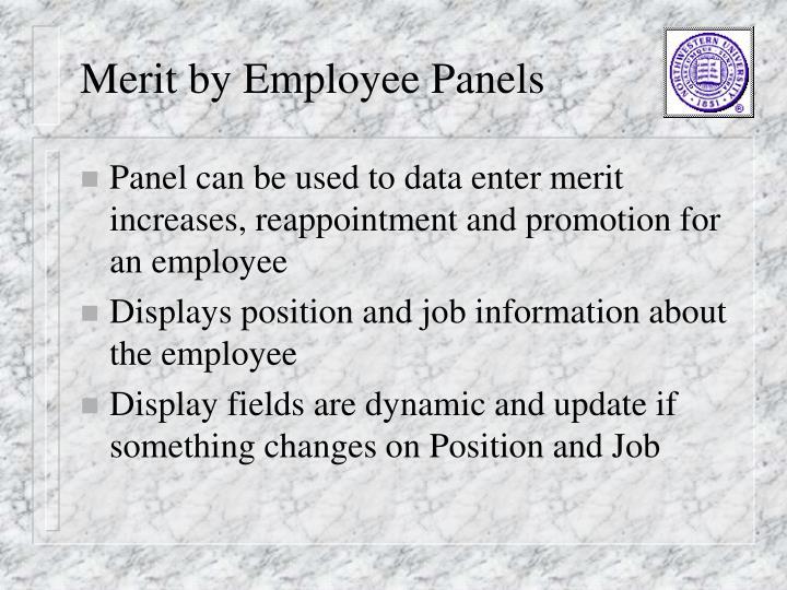Merit by Employee Panels