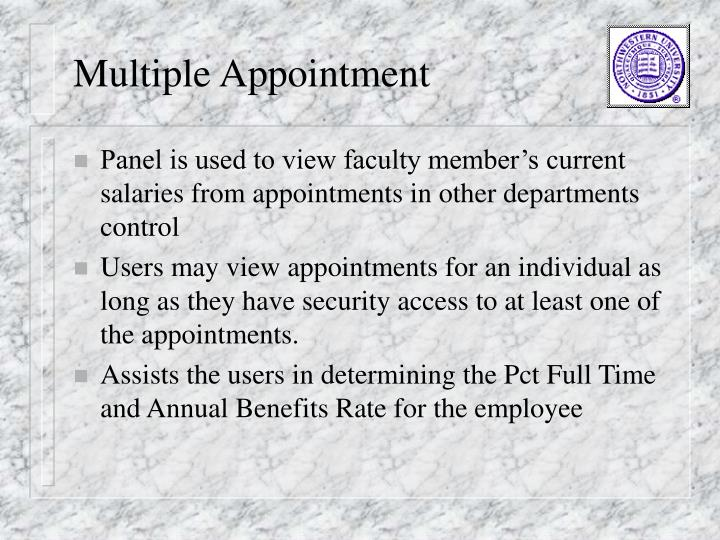 Multiple Appointment