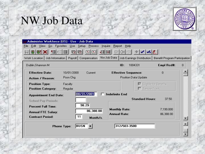 NW Job Data