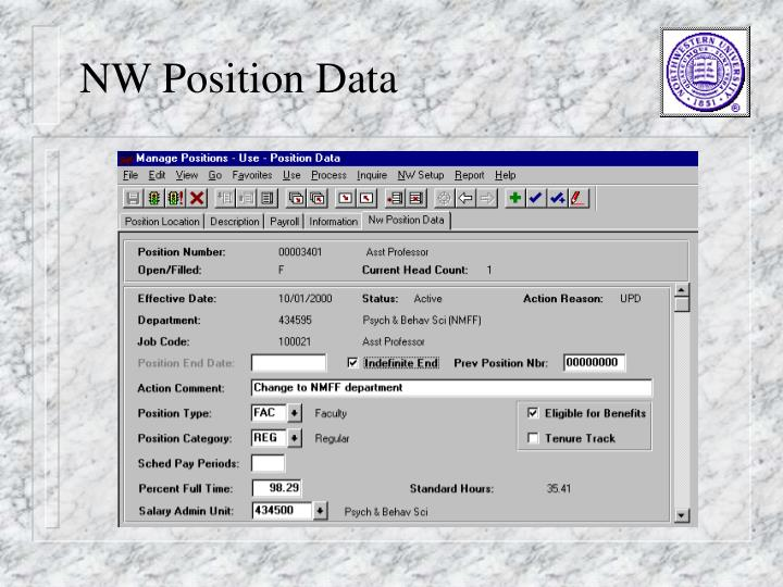 NW Position Data