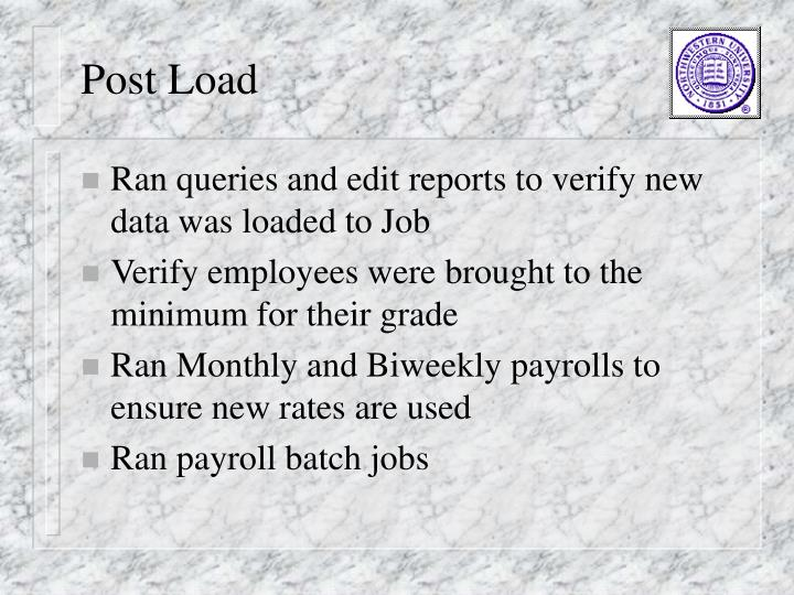 Post Load