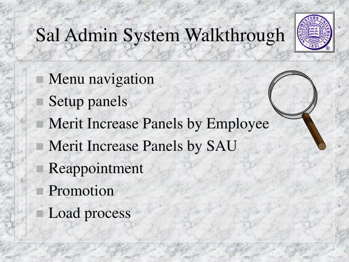 Sal Admin System Walkthrough