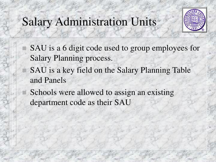 Salary Administration Units