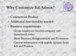 why customize sal admin