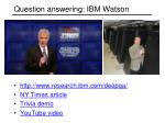 question answering ibm watson