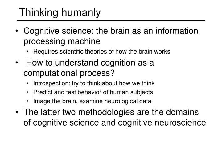 Thinking humanly