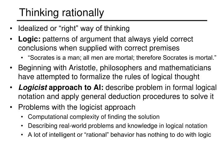 Thinking rationally